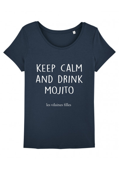Tee-shirt col rond Keep calm and drink mojito