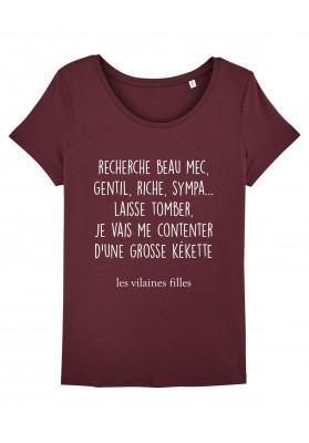 Tee-shirt col rond Recherche beau mec bio