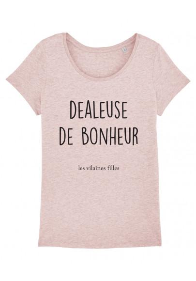 Tee-shirt col rond Dealeuse de bonheur bio