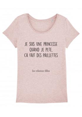 Tee-shirt col rond Je suis une princesse