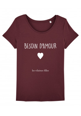 Tee-shirt col rond Besoin d'amour