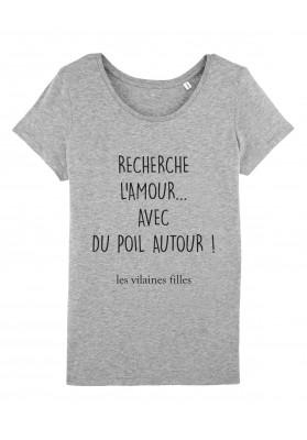 Tee-shirt col rond Recherche l'amour