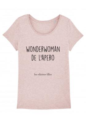 Tee-shirt col rond wonderwoman bio