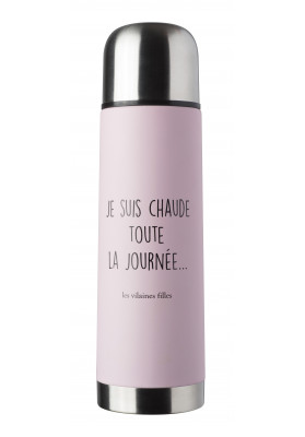 Thermos rose Je suis chaude