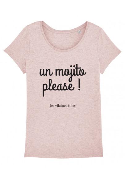 Tee-shirt col rond Un mojito please bio