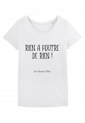 Tee-shirt col rond Rien à foutre de rien bio