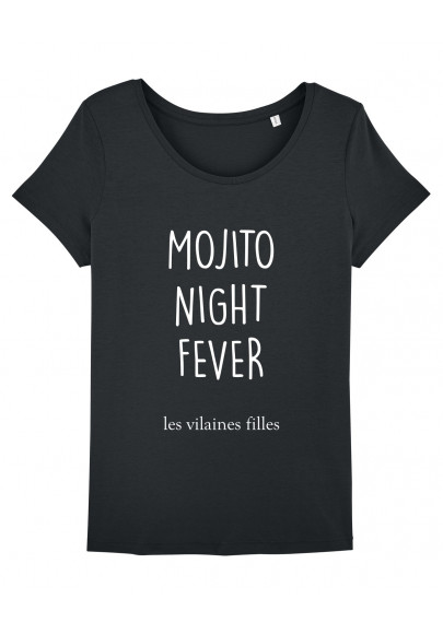 Tee-shirt col rond Mojito night fever bio
