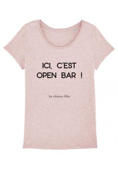 Tee-shirt col rond Open bar bio