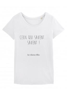 Tee-shirt col rond Ceux qui savent, savent bio
