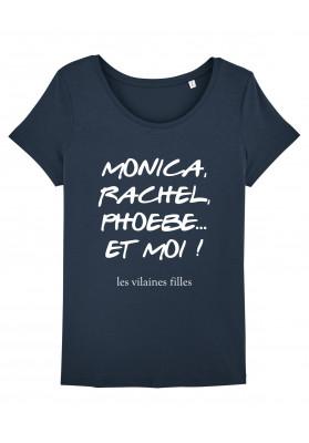 Tee-shirt col rond Monica, Rachel, phoebe bio