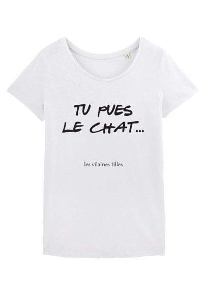 Tee-shirt col rond Tu pues le chat bio