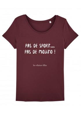 Tee-shirt col rond Pas de sport, pas de mojito bio