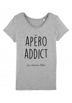 Tee-shirt col rond Apero addict bio