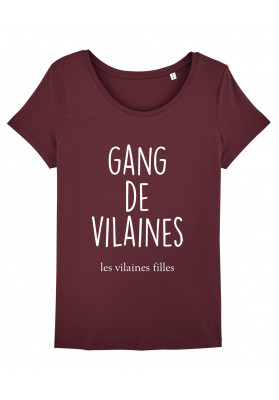 Tee-shirt col rond Gang de vilaines bio