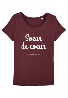 Tee-shirt col rond Soeur de coeur bio