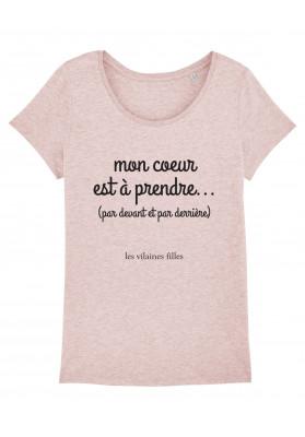 Tee-shirt col rond Coeur à prendre bio