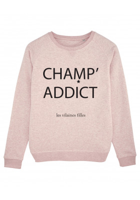 Tee-shirt col rond champ' addict bio