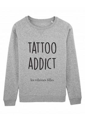 Sweat col rond Tattoo addict bio