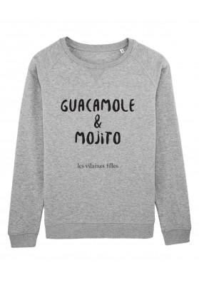 Sweat col rond Guacamole et mojito bio