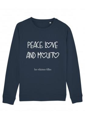 Sweat col rond Peace love and mojito bio
