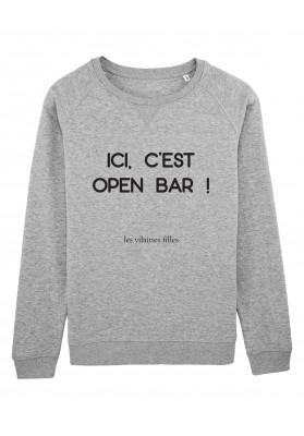 Sweat col rond Open bar bio