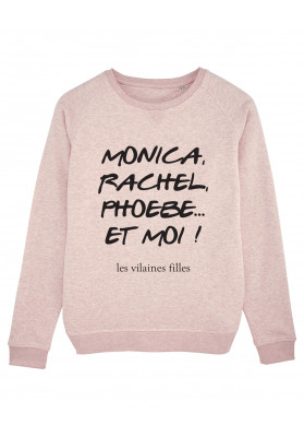 Sweat col rond Monica, Rachel, phoebe bio