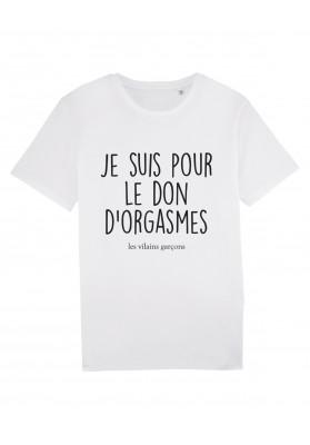Tee-shirt homme Don d'orgasme bio