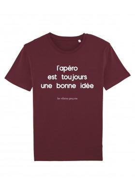 Tee-shirt homme  L'apero est toujours une bonne idee bio