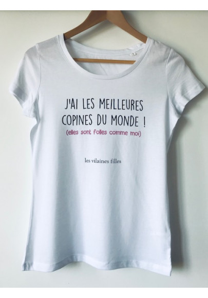 store available outlet on sale Tee-shirt col rond J'ai les meilleures copines