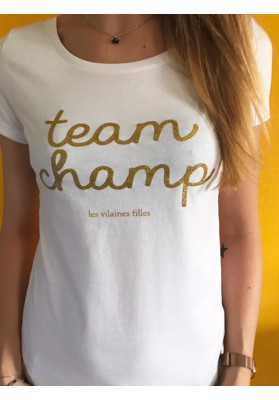 Tee-shirt Team champ à paillettes