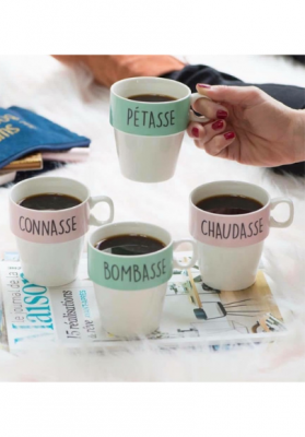 lot de 4 tasses empilables