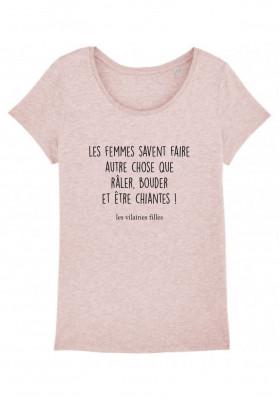 Tee-shirt col rond Les femmes savent faire autre chose que raler, bouder et être chiantes bio
