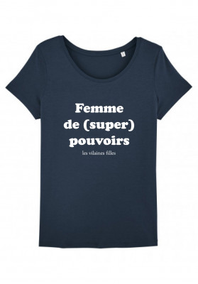 Tee-shirt col rond Femme de super pouvoirs bio