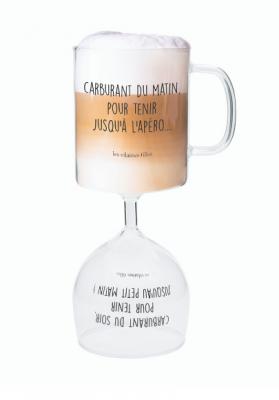 Verre double café et vin