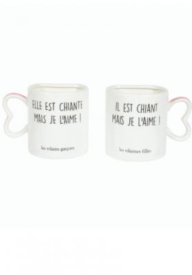 Coffret de 2 mugs Mais je l'aime