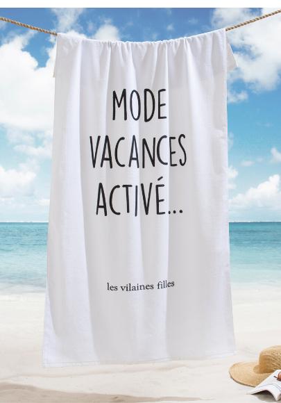 Drap de plage XXL Mode vacances activé