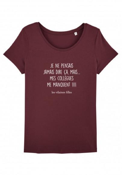 Tee-shirt col rond Je ne pensais