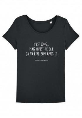 Tee-shirt col rond C'est long