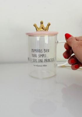 Mug en verre pour les princesses