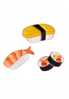Lot de 3 Pin's Sushis