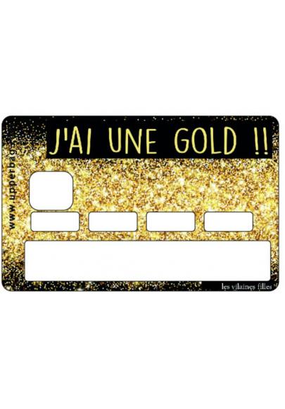 Sticker pour cb J'ai une gold