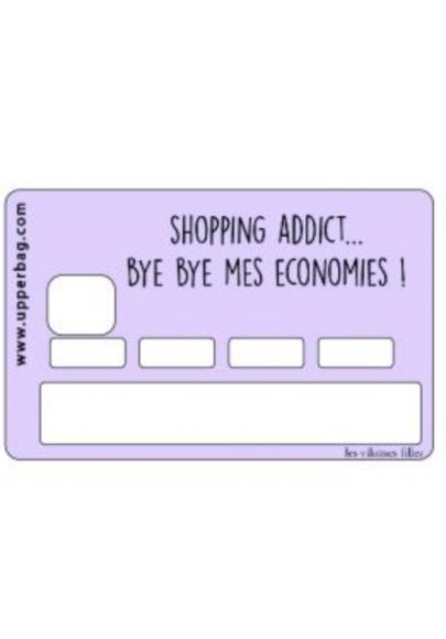 Sticker pour cb shopping addict