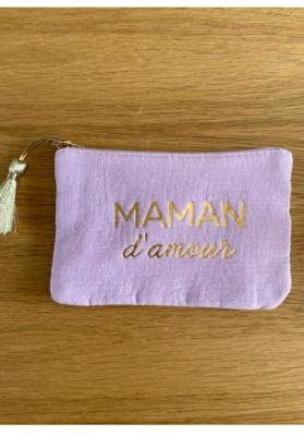 Pochette Maman d'amour parme Taille S  Mila