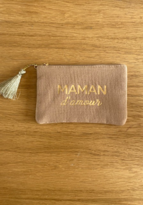 Pochette Maman d'amour Cappuccino Taille S  Mila