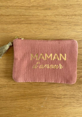 Pochette Maman d'amour Terracotta Taille S  Mila