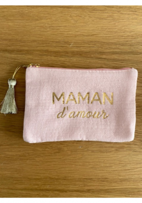 Pochette Maman d'amour Rose Taille S  Mila