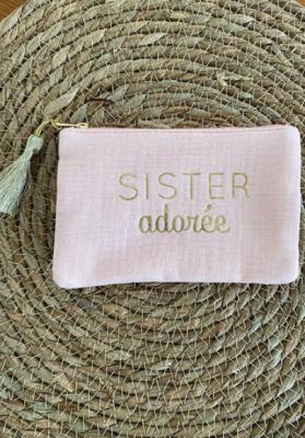 Pochette Sister adorée Rose Taille S  Mila