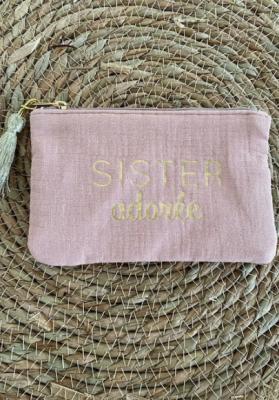 Pochette Sister adorée Vieux rose Taille S  Mila