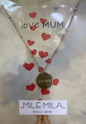 Collier love mum Mile mila