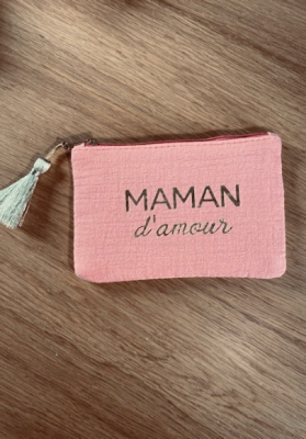Pochette Maman d'amour corail Taille S  Mila